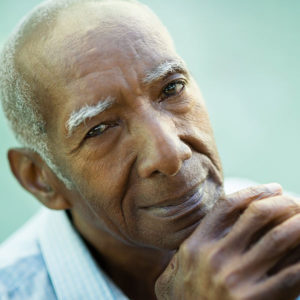 Elderly man relieved after Glaucoma Surgery